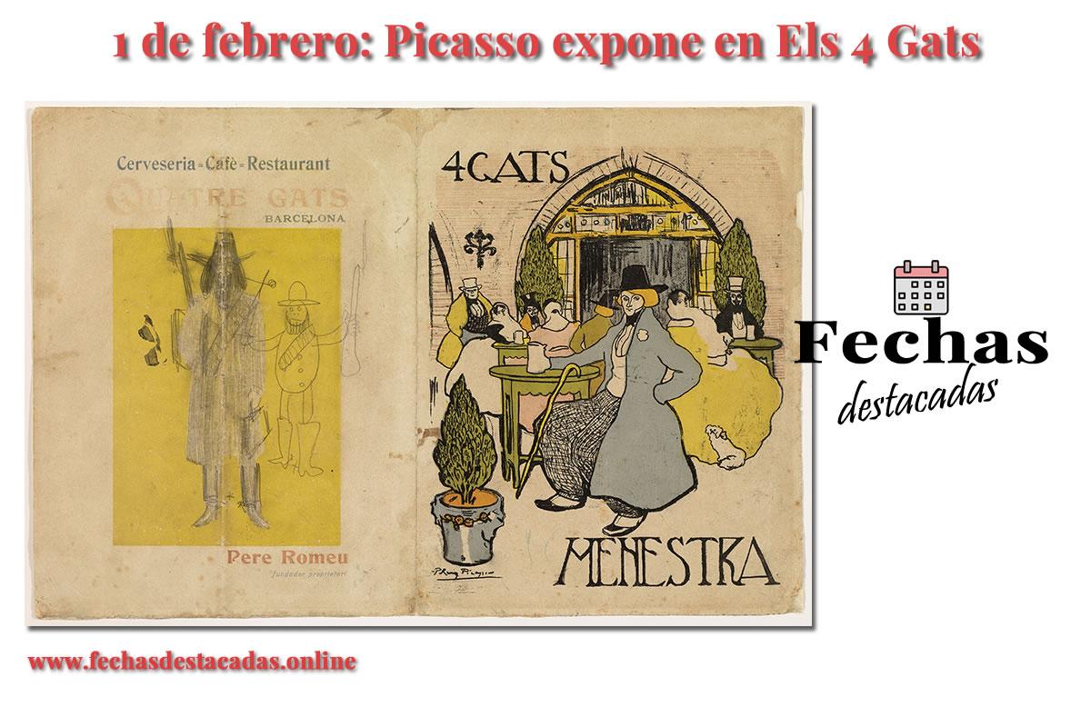 1 de febrero de 1900: Picasso inaugura su primera muestra en Barcelona