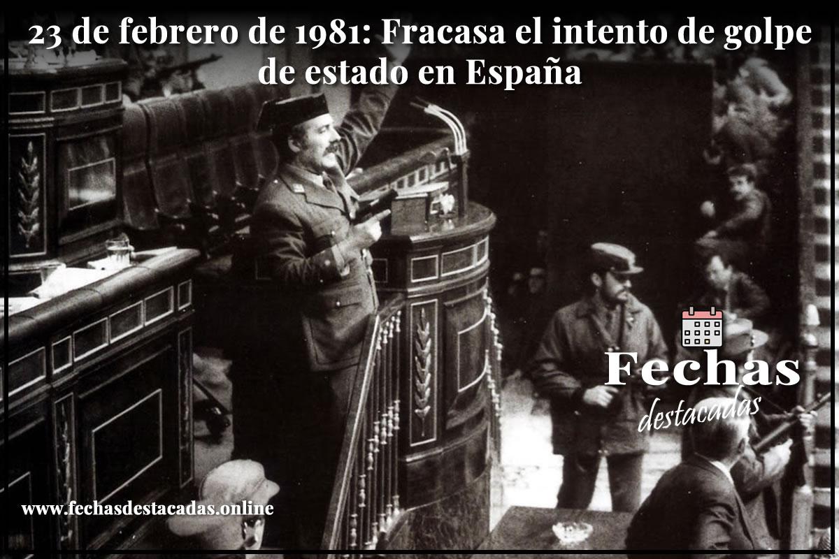 23 de febrero de 1981: fracasa el intento de golpe de estado en España